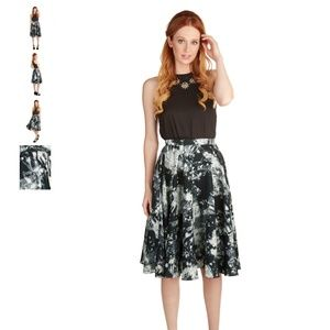 NOWT Modcloth Ikebana for All Skirt in Crystals
